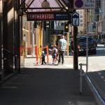 In Wellington werden Kinder prinzipiell an der Leine ausgeführt (bitte Zoomen)