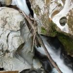 Ein Abschnitt eines Wasserfalls.